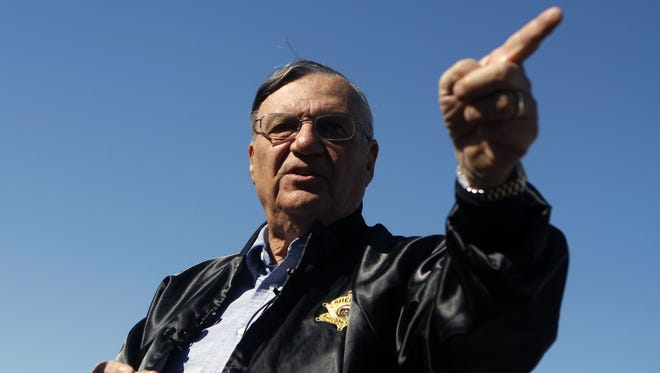 Maricopa County Sheriff Officer Joe Arpaio in a 2009 press conference.