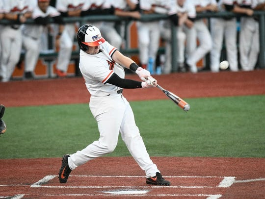 OSU designated hitter Kyle Nobach had three hits and four RBI in a 12-0 win Sunday over LSU that clinched the Corvallis Regional.