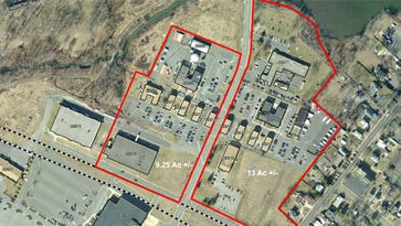 The Fort Momnouth property outlined in red on the right is where Oceanport wants to put its new municipal complex