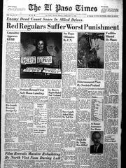El Paso Times homepage that ran Feb. 4, 1966.