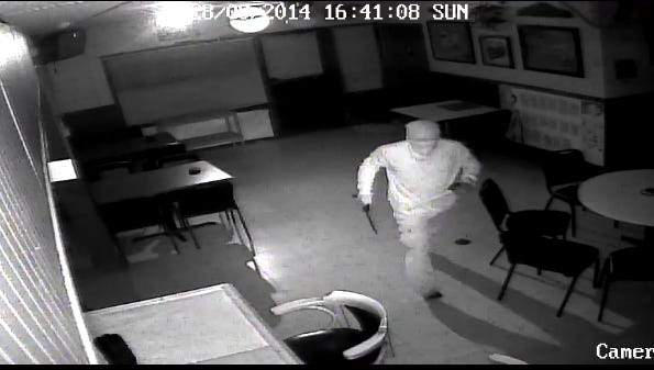 Surveillance image from from a robbery attempt at the Elbow Room in south Fort Myers