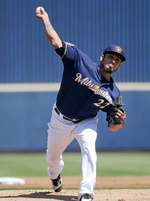 Milwaukee Brewers starting pitcher Matt Garza makes the start against the Mets on Monday.