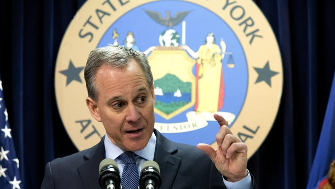 New York Attorney General Eric T. Schneiderman, pictured in this Feb. 11, 2016, file photo.