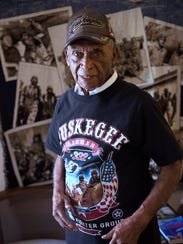Leslie Edwards, 93, of Springfield Township, is a Tuskegee Airman who served as a mechanic during World War II. Edwards was 18 when he was drafted in 1943. He became a flight chief of the B-25 medium range bombers. His wife, Anna Mae, of 72 years, passed away in 2016.
