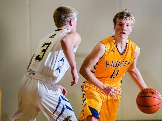 Haslett vs DeWitt G-B Basketball