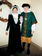 Bianca Podesta and Robert Armitage in costume for the Madrigal Choir.