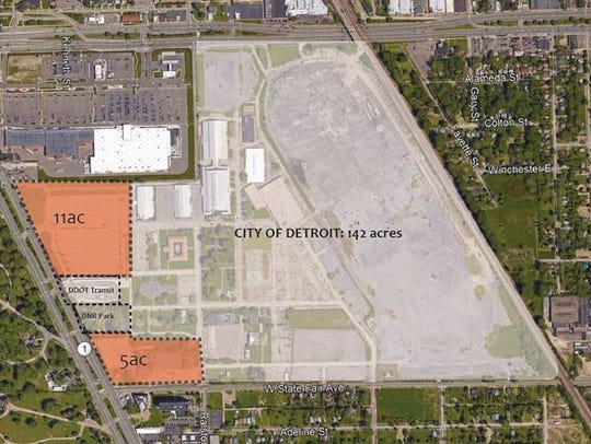 Pending Detroit City Council approval and environmental