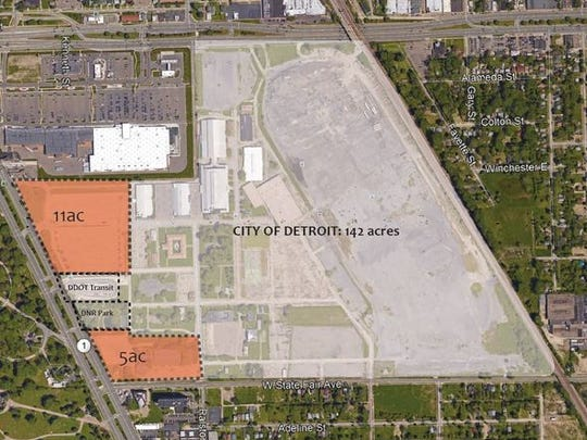 The city of Detroit now owns the largest piece of the former state fairgrounds. The Magic Plus group has 16 acres along Woodward