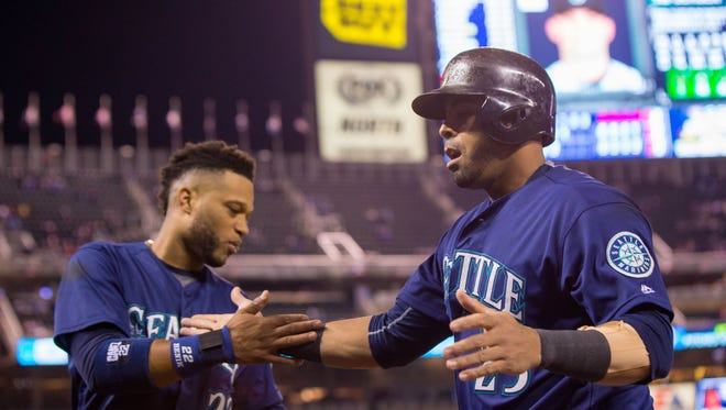 The Seattle Mariners have one of the most consistent 1-2 punches on offense in second baseman Robinson Cano, left, and designated hitter Nelson Cruz.