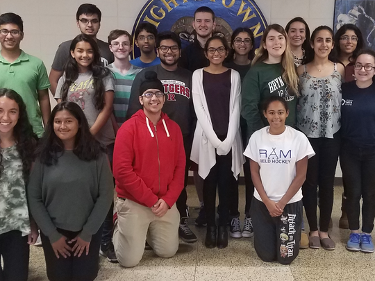Advanced Placement U.S. Government students from Hightstown