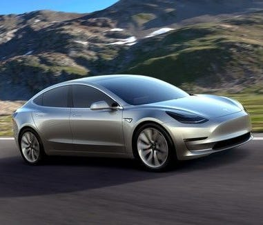 Tesla's upcoming Model 3 sedan, shown in concept form last year.