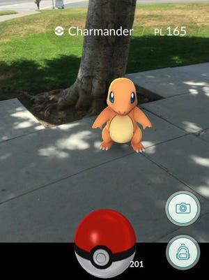 A screenshot from 'Pokémon Go.'