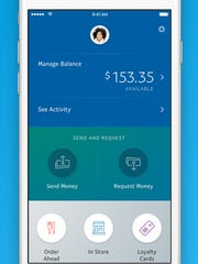 A screenshot of the PayPal app.