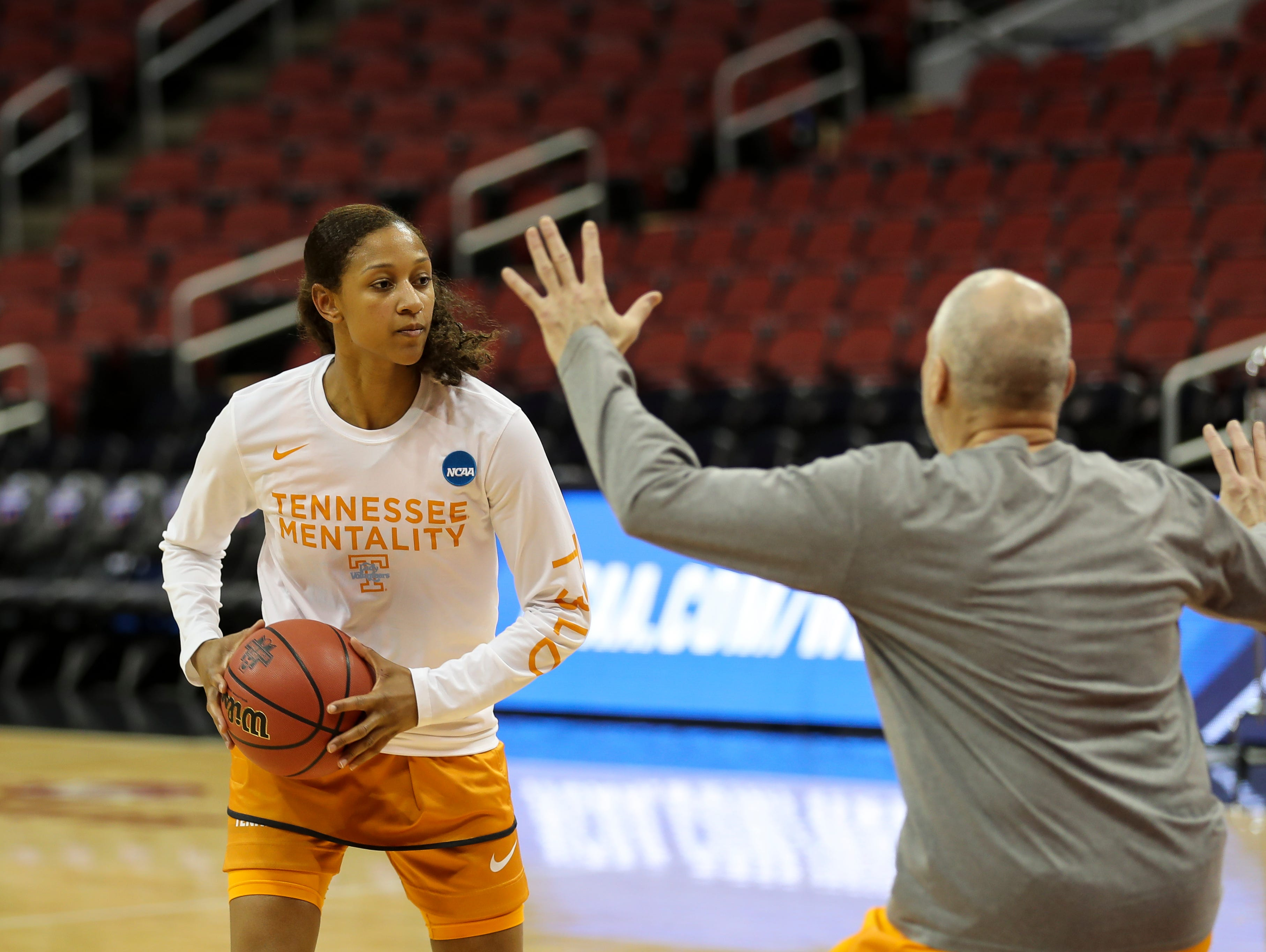 Tennessee's Jaime Nared needs to avoid foul trouble in the Lady Vols' NCAA tournament showdown against Louisville.