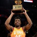 See Donovan Mitchell's title-winning dunks