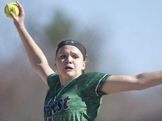 D.C. Everest senior pitcher Miranda Gajewski is ready to lead the Evergreens to a conference title.