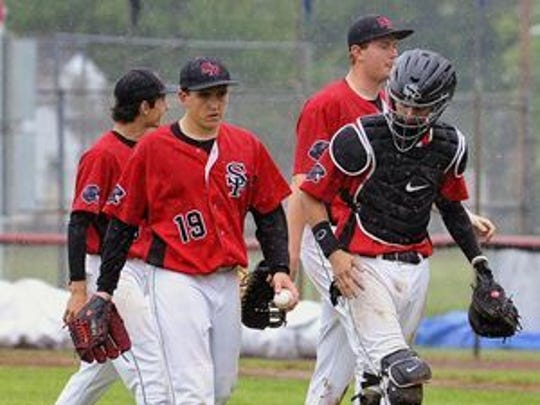 Cal Giese (19) and Mitch Mallek (catcher) have formed teams' battery mates dating back to their time at Stevens Point Area Senior High.