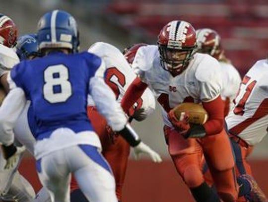 Hunter Luepke has scored 12 rushing touchdowns and
