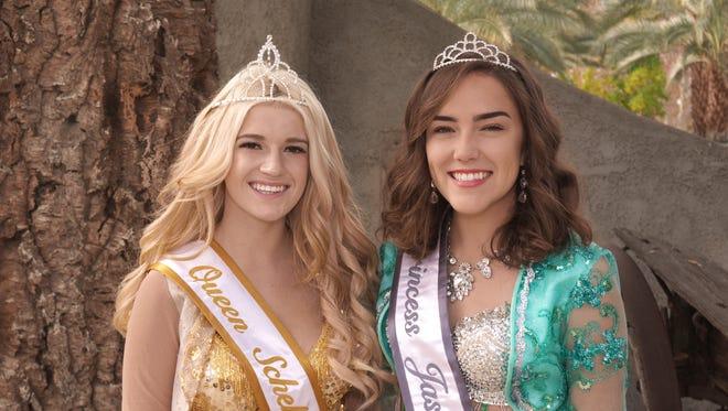 Date Festival Queen Tyler Kelleher and Princess Selena Andrews