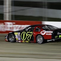 Cory Kemkes of Appleton, Wis., comes out of a turn during the ARCA Midwest Tour Potawatomi Dixieland 250 at the Wisconsin International Raceway Tuesday, August 4, 2015, in Buchanan, Wis. Danny Damiani/Post-Crescent Media
