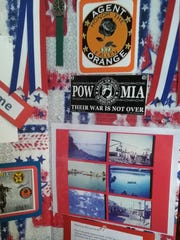 A portion of the Vietnam display at the March 12 DAR luncheon.