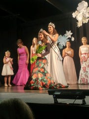 Holly Whitten is crowned Miss Vanderburgh County 4-H Fair on Monday night.