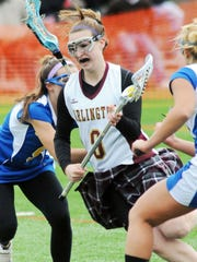 Arlington High School's   Danielle Axelrod, shown playing for Arlington High School in March 2010, controls with the ball against Mahopac.