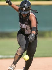 Plymouth's Arie Bartholomew collides with a line drive