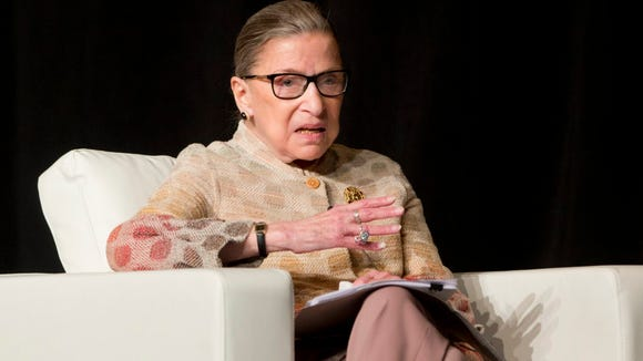 Supreme Court Justice Ruth Bader Ginsburg is pictured