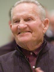 Retired educator George Dodson at a reception for retiring
