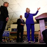 Hillary Clinton campaigning in NJ