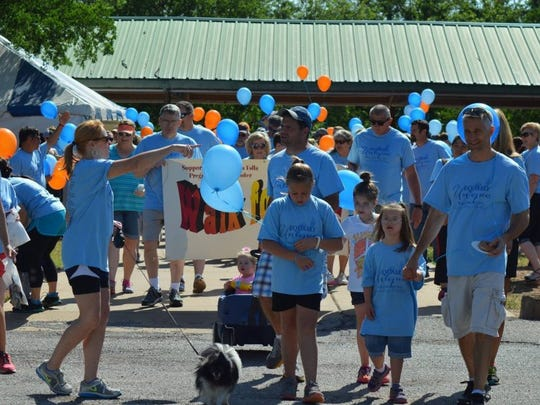 In this file photo, participants prepare to hit the trail during the Walk for Life benefiting the Pregnancy Help Center. This year's events will be May 11 at Lucy Park in Wichita Falls and at the Calvary Baptist Church Family Life Center in Vernon.