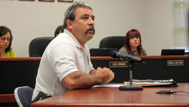 County Emergency Services Director Paul Quairoli discussed reallocating $200,000 from a bond project in Chaparral to build a new fire station in Timberon at the latest county commission meeting Wednesday, Oct. 19.