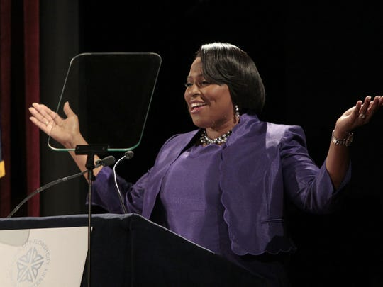 Mayor Lovely Warren delivers her 2015 State of the City Address in February.