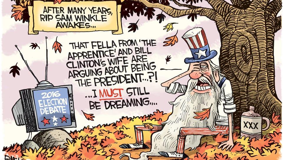 Rip Sam Winkle cartoon by Rick McKee