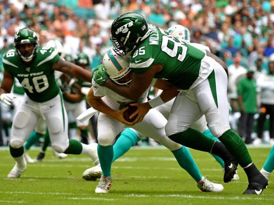 Jets rookie defensive lineman Quinnen Williams has helped the team have the best running defense in the NFL, believe it or not.