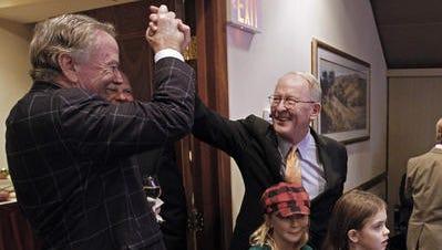 Tom Ingram, left, of The Ingram Group has helped U.S. Sen. Lamar Alexander win several campaigns.