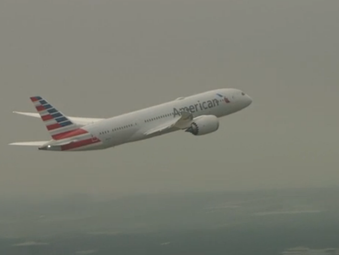 MAY 7, 2015: American Airlines' newest Boeing 787 Dreamliner