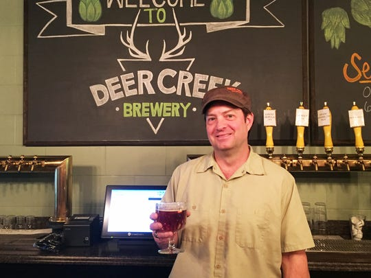 Owner and brewer Jeff Eaton at Deer Creek Brewery in Noblesville.