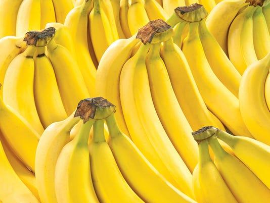 Yellow bananas isolation sweet fruit fresh raw food