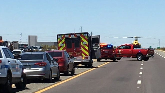 A wreck on Interstate 10 near Watson Road forced authorities to close the highway in both directions on July 11, 2016.