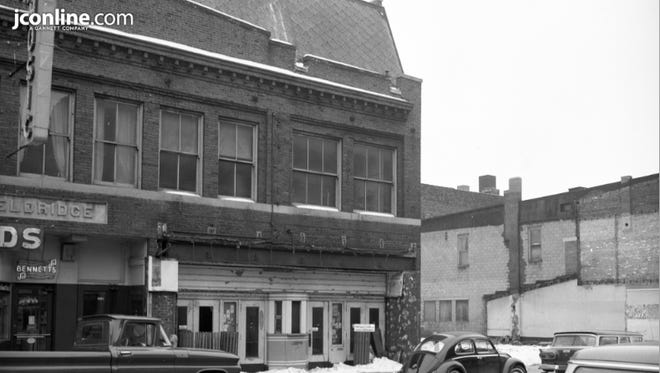This 1964 photo shows 629 Main Street, former home of the Luna Theater, vacated and set to be razed.