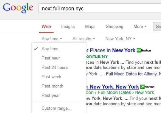 Cut your search time short with search shortcuts