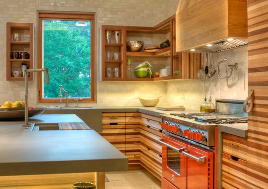 Josh wynne construction crafted these cabinets using waste wood from a
