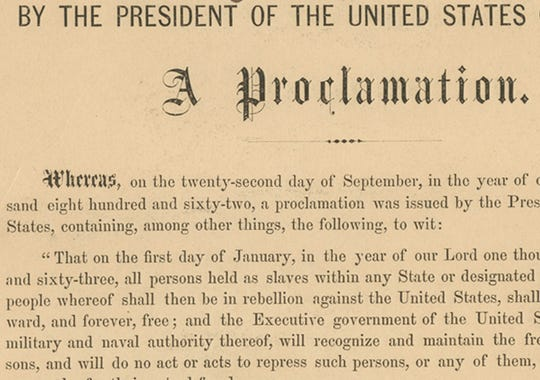 Emancipation ProclamationEmancipation Proclamation Speech