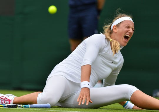 2013-6-24 wimbledon day 1 azarenka in pain