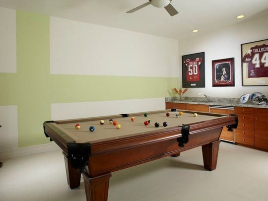 Tulloch's game room.