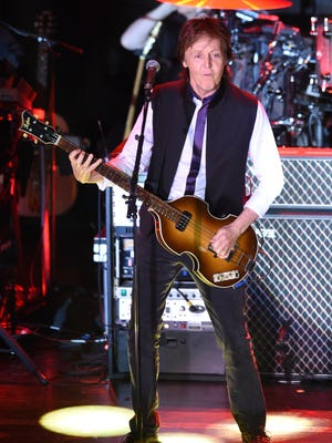 Paul McCartney performs at Irving Plaza on Feb. 14 in New York City.