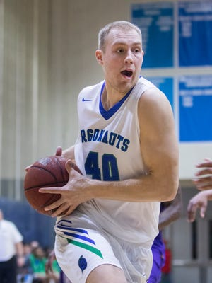 Henri Ventoniemi (40) drives to the basket during the Montevallo vs UWF men's basketball game at the University of West Florida in Pensacola on Monday, December 18, 2017.