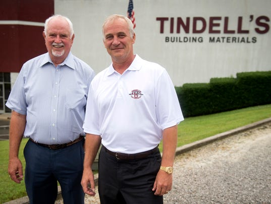 Carl Tindell, left,  with company president Johan van Tilburg